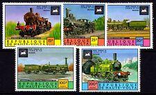 Upper Volta / Burkina Faso - 1975 Locomotives - Mi. 557-61 MNH
