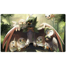 FREE SHIPPING Custom Pokemon Playmat Decidueye Rowlet Pokemon Play Mat
