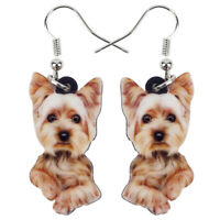 Acrylic Yorkshire Terrier Dog Earrings Drop Fashion Pet Jewelry For Women Charms