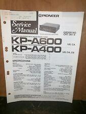 Pioneer KP-A600,400 Cassette Deck Service manual #1