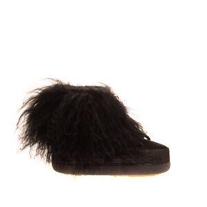 INUIKII Leather & Lamb Fur Winter Boots Size 36 EU 35 UK 2 US 5 Shearling Logo
