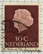 Netherlands stamps - Queen Juliana (1909-2004)  10 Dutch cent  1953