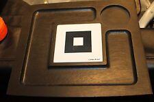 Georges Briard Black Wood Serving Platter Lot of 2  w Ceramic Tile White signed