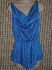 Undercover Wear Blue Draped Neck Teddy Style 71140 Size M B:38 W:26-36 H:44 L:22