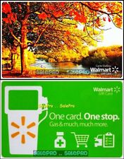 2x WALMART BEAUTIFUL FALL AUTUMN DAY 1 CARD 1 STOP GAS COLECTIBLE GIFT CARD LOT