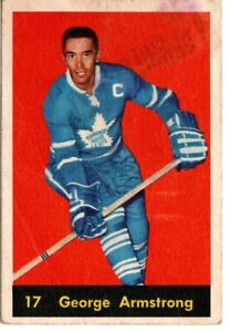 1960-61 PARKHURST #17 GEORGE ARMSTRONG TORONTO MAPLE LEAFS LOW GRADE
