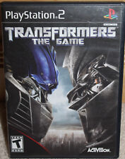 PLAYSTATION 2 ps2 TRANSFORMERS: The GAME black label COMPLETE disc MANUAL case
