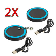 2x Universal Qi Wireless Power Charging Charger Pad For Mobile Phone Smart Phone