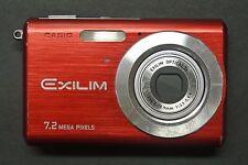 Casio Exilim EX-Z70 7.2MP 2.5''Screen 3x Zoom Digital Camera RED