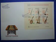 LOT 12585 TIMBRES STAMP ENVELOPPE MUSIQUE MACAO MACAU ANNEE 1986