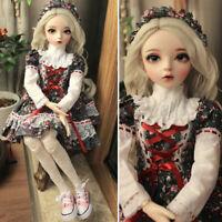 1/3 Ball Jointed Girl 60cm BJD Puppe + Veränderbare Augen + Perücken + Kleidung