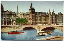 Palace of Justice, Paris, France 1907 - 1915 Postcard G725