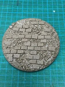 100mm round Paved Scenic resin base  Unpainted Qty X1 Daemonscape
