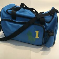 POLO RALPH LAUREN Travel Overnight Weekender Gym Duffle Bag JUMBO Logo Blue
