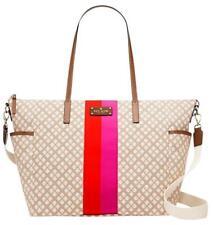 NWT Kate Spade New York Classic Adaira Stucco Beige Canvas Diaper Bag MSRP $427