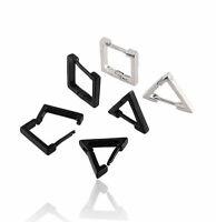 2pcs Triangle Square Rhombus Stainless Steel Men Women eardrop Dangler Earrings