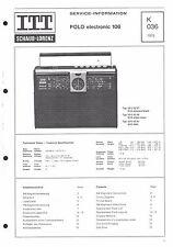 ITT/Schaub-Lorenz Service Manual für Polo electronic 106