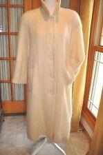 APPLESEEDS Long Mohair Wool Blend CREAM/IVORY Coat Womens Size 12P BOHO CHIC