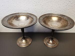Ein Paar international Sterling Kerzenhalter Kerzenleuchter Silber 300g