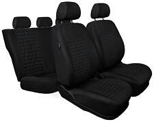 CAR SEAT COVERS full set fit Peugeot 407 - black (MC1)