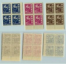 Lithuania 1937 SC 302 304 305 MNH block of 4 . rta5153
