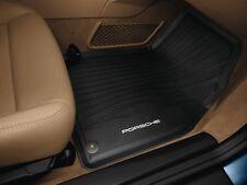 New Genuine Porsche 981 Boxster Cayman Black All Weather Rubber Floor Mats RHD