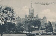 HARTFORD CT – Capitol and Fountain Bushnell Park - udb (pre 1908)