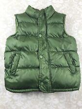 Old Navy Toddler Boy 4T Green Puffer Vest Winter Fleece Lined