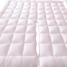 Top Split California King Mattress Pad Plush 2-Inch Down Alternative With Bands