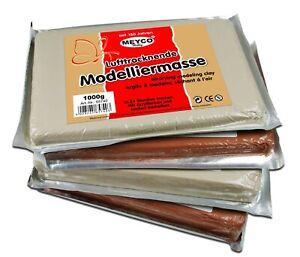 Meyco Hobby Modelliermasse 1000/500g Ton weiß/terracotta lufttrocknend Knetmasse