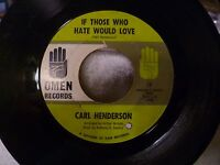 CARL HENDERSON Everybody's Talking/If Those Who Hate...Omen 1966 Northern Soul