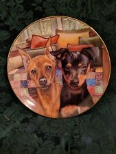 Pin Pals Patricia Bourque Collector Plate Danbury Miniature Pinscher Dogs