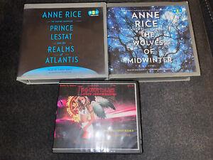 Lot 3 Audiobooks CDs FICTION FANTASY ROMANCE THRILLER Anne Rice Jennifer Ashley