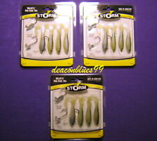 "LOT 3 Storm Wildeye Pro Curly Tail 2.5"" fishing lures, swimbaits- bass,walleye"