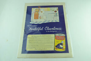 Old Dutch Cleanser  Full Page Print Ad 494