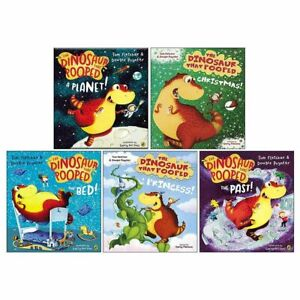 The Dinosaurs That Pooped Collection 5 Books Set by Tom Fletcher