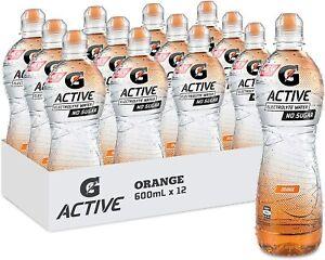 Gatorade G-Active Berry / Mango / Orange / Lemon  Electrolyte Water, 12 x 600ml