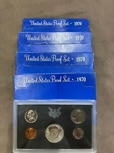 4 PC. 1970-S PROOF SETS VERY FRESH PACKAGING IN OGP!!!..48.00