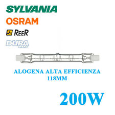 LAMPADA ALOGENA LINEARE 118mm 200W=250W R7S ALTA EFFICIENZA