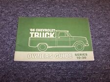 1966 Chevy 10 20 30 Series Truck Original Owner Owner's Operator Guide Manual