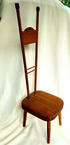 Vintage or antique wood Jacobean style high back children's chair