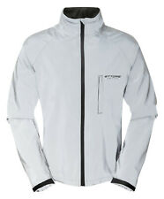 Mens Cycling Jacket Ettore Waterproof Breathable Reflective Silver Night Glow