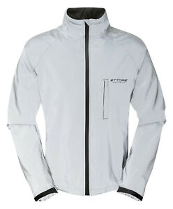 Ettore Mens Cycling Jacket Waterproof Breathable Reflective Silver - Night Glow