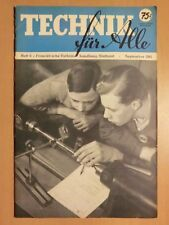 Technik für Alle Zeitschrift 1941 mit Wasserkraft Generator Flugzeug-Blindflug