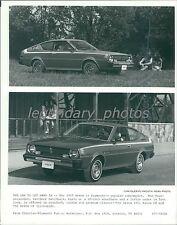 1977 Plymouth Arrow Popular Subcompact Original News Service Photo