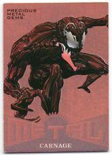 2017 Fleer Ultra Spider-Man Marvel Metal PMG Bronze MM14 Carnage 157/199