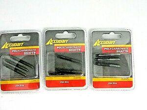 Accudart Polycarbonate Shafts 2/BA Size 3 packs of 3 Item #D5204