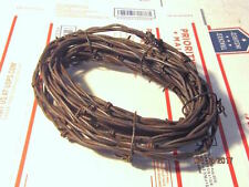 Rusty Barbed Wire Cowboy Western Decor Craft Metal U-Choose Feet 2, 5, 10, 25 50