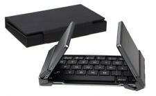 Portable Wireless Bluetooth Keyboard Tri-Fold Ultra Thin Smart Pairing Full Size