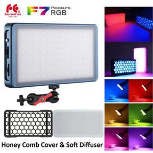 Falcon Eyes F7 RGB LED Mini Pocket Light 2500K-9000K Bi-Color Video Camera Lamp